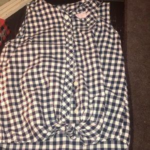 Kids buffalo check button up shirt
